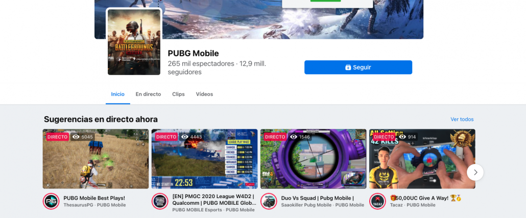 Directo facebook gaming